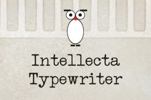 Print on Demand: Intellecta Typewriter Serif Font By Intellecta Design