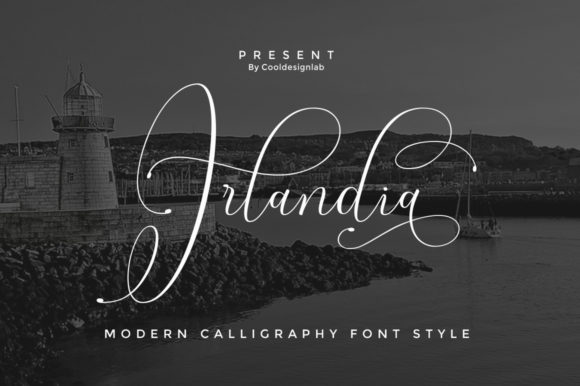 Print on Demand: Irlandia Script Script & Handwritten Font By Cooldesignlab