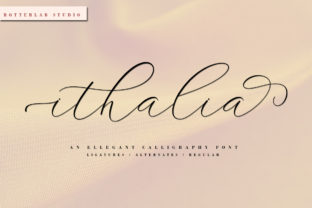 Ithalia Script Font By rotterlabstudio