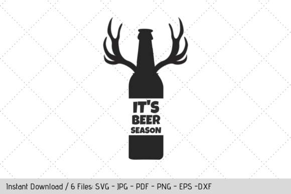 Download Free It S Beer Season Svg Graphic By Werk It Girl Supply Creative Fabrica for Cricut Explore, Silhouette and other cutting machines.