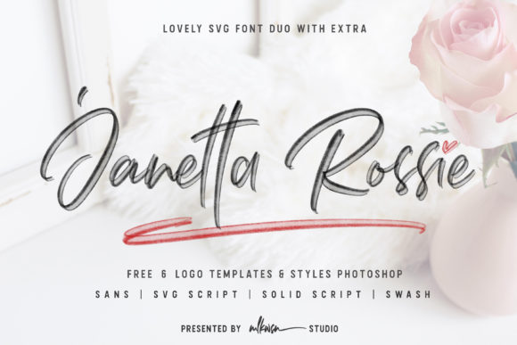 Print on Demand: Janetta Rossie Duo Display Font By MLKWSN studio