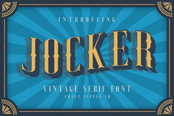 Jocker Family Display Font By craftsupplyco