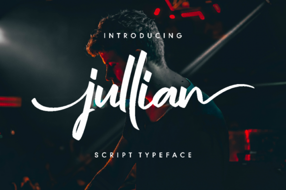 Print on Demand: Jullian Script Script & Handwritten Font By Ketikata Studio