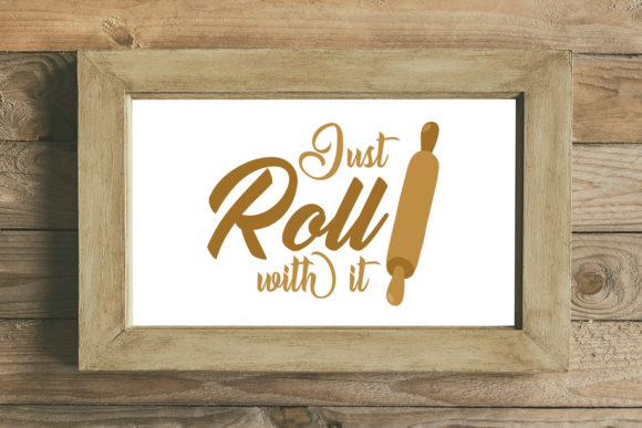 Download Free Just Roll With It Farmhouse Svg Graphic By Summerssvg for Cricut Explore, Silhouette and other cutting machines.