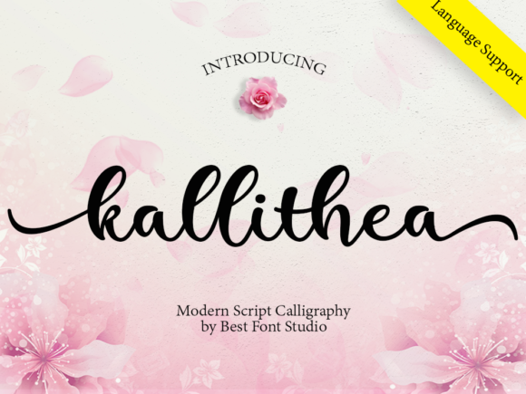 Download Free Kallithea Script Font By Best Font Studio Creative Fabrica for Cricut Explore, Silhouette and other cutting machines.