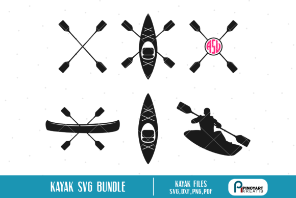 Download Free Kayak Bundle Graphic By Pinoyartkreatib Creative Fabrica for Cricut Explore, Silhouette and other cutting machines.