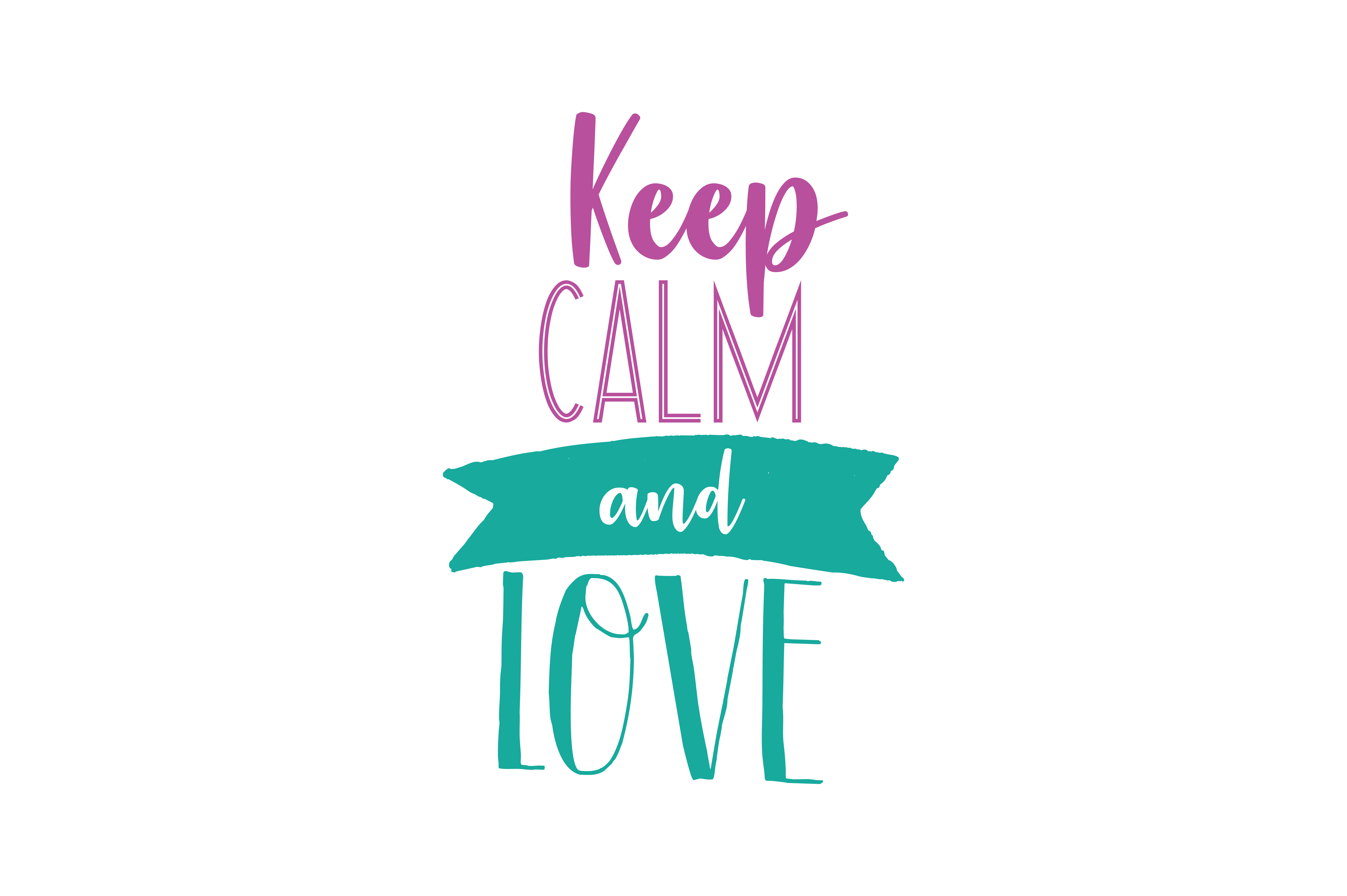Download Free Keep Calm And Love Quote Svg Cut Graphic By Thelucky Creative for Cricut Explore, Silhouette and other cutting machines.