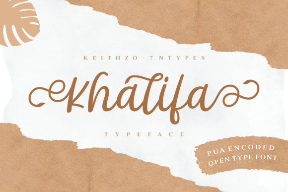 Print on Demand: Khalifa Script & Handwritten Font By Keithzo (7NTypes)