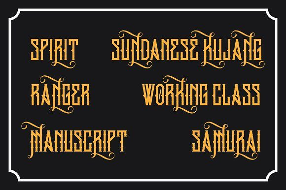 Print on Demand: King Armored Blackletter Font By EN86-21 - Image 4