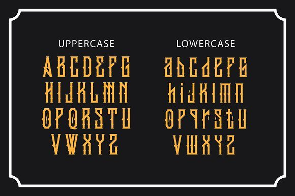 Print on Demand: King Armored Blackletter Font By EN86-21 - Image 5