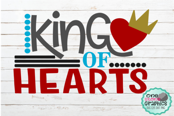 Download Free King Of Hearts Svg Graphic By Onestonegraphics Creative Fabrica for Cricut Explore, Silhouette and other cutting machines.