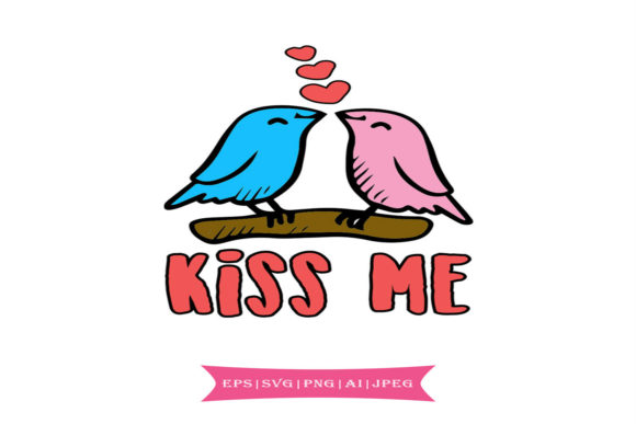 Kiss Me, Valentines Day Svg Graphic By summersSVG