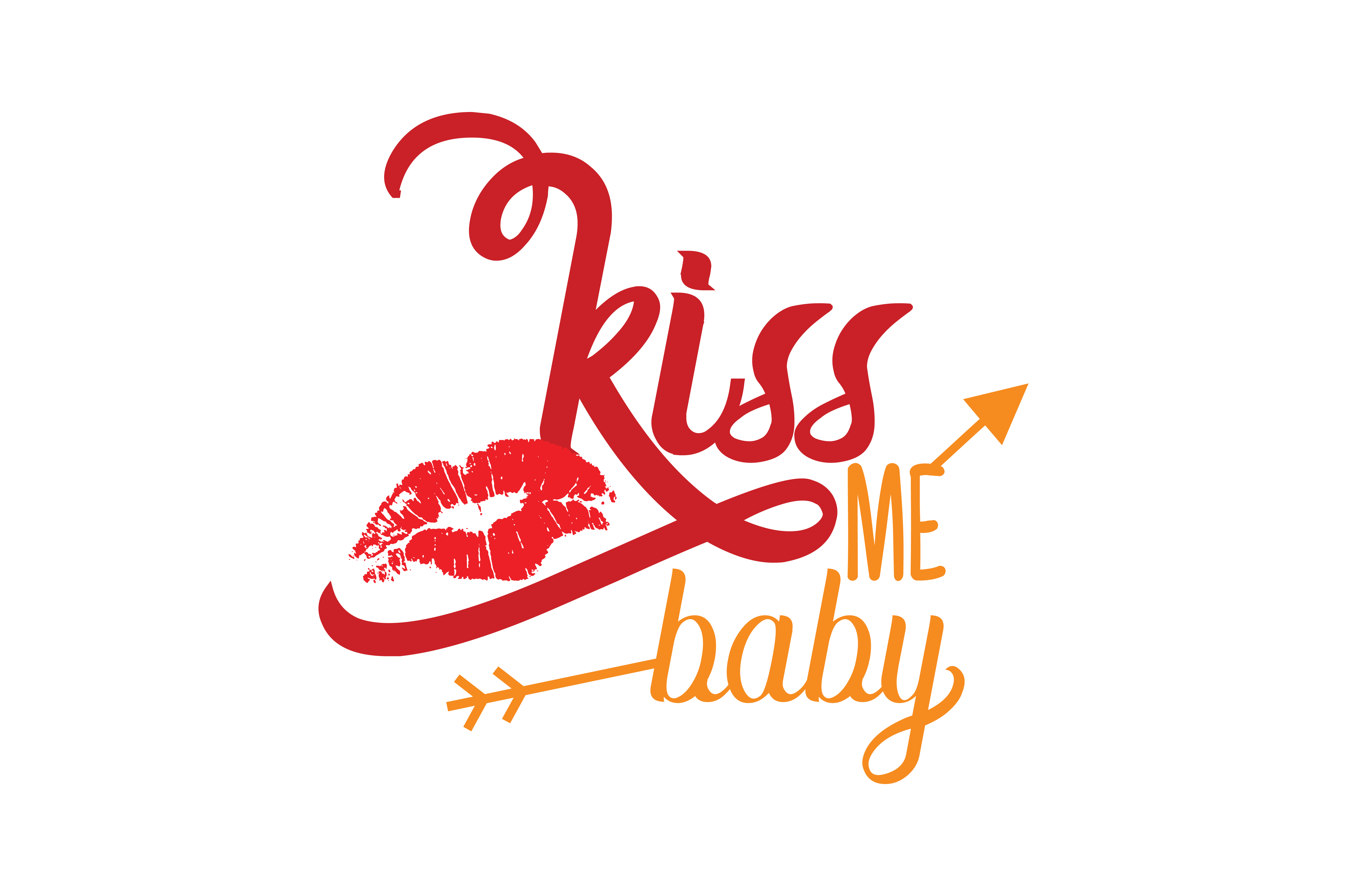 Download Free Kiss Me Baby Quote Svg Cut Graphic By Thelucky Creative Fabrica for Cricut Explore, Silhouette and other cutting machines.
