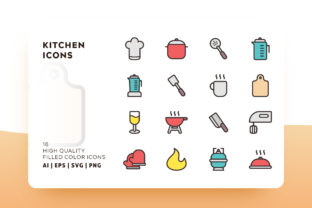 Kitchen Filled Icon Pack Graphic By Goodware.Std