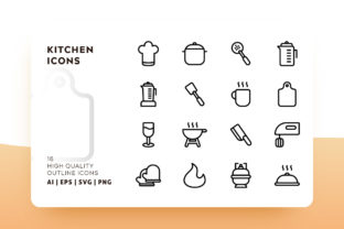 Download Free Kitchen Outline Icon Pack Graphic By Goodware Std Creative Fabrica for Cricut Explore, Silhouette and other cutting machines.