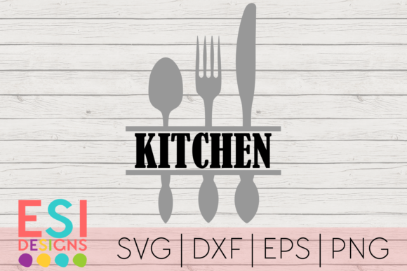 Download Free Kitchen Utensils Split Svg Graphic By Esi Designs Creative Fabrica for Cricut Explore, Silhouette and other cutting machines.