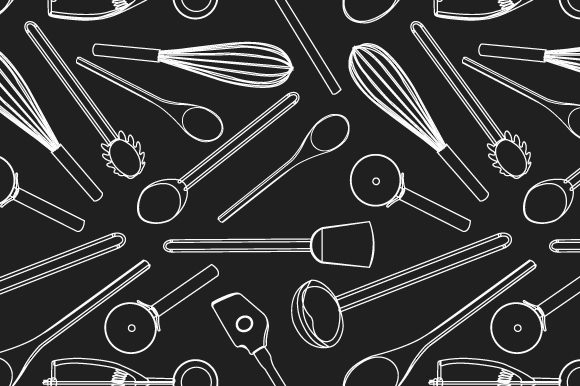 Print on Demand: Kitchen Tools Seamless Pattern Graphic Patterns By iop_micro