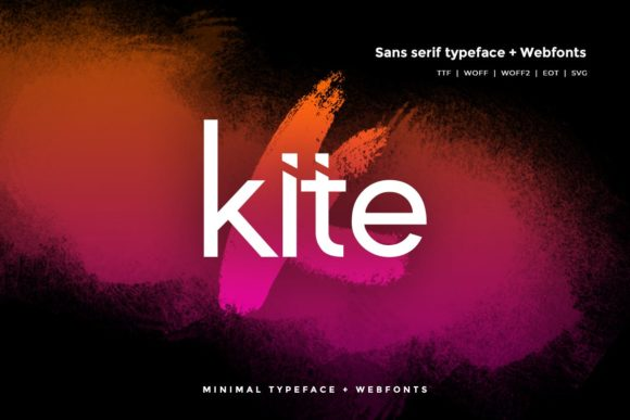 Print on Demand: Kite Sans Serif Font By Webhance