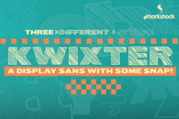 Print on Demand: Kwixter Display Font By Sharkshock