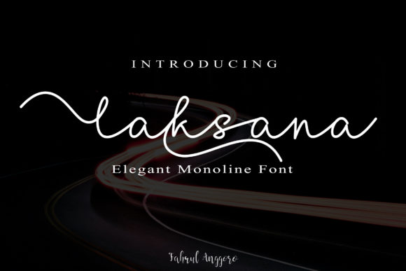 Print on Demand: Laksana Script & Handwritten Font By Fahrul Anggoro
