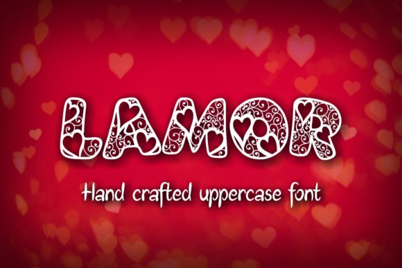 Print on Demand: Lamor Decorative Font By Eva Barabasne Olasz