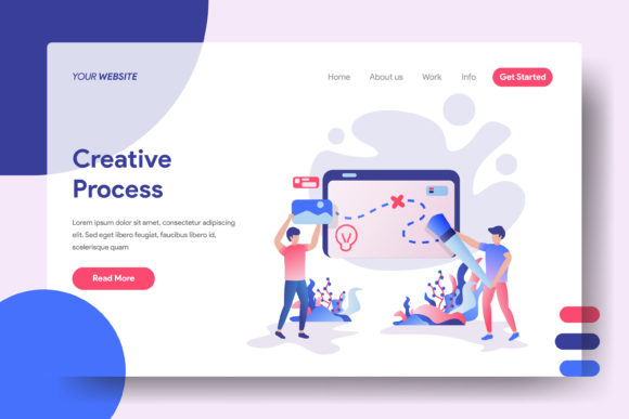 Landing Page Creative Process Graphic Landing Page Templates By Twiri