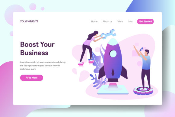 Landing Page Boost Your Business Graphic Landing Page Templates By Twiri
