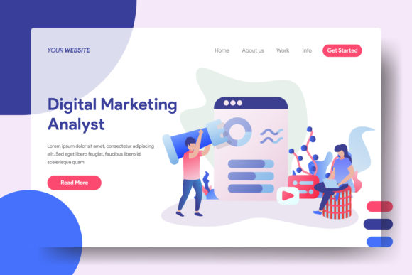 Landing Page Data Analysis Process Graphic Landing Page Templates By Twiri