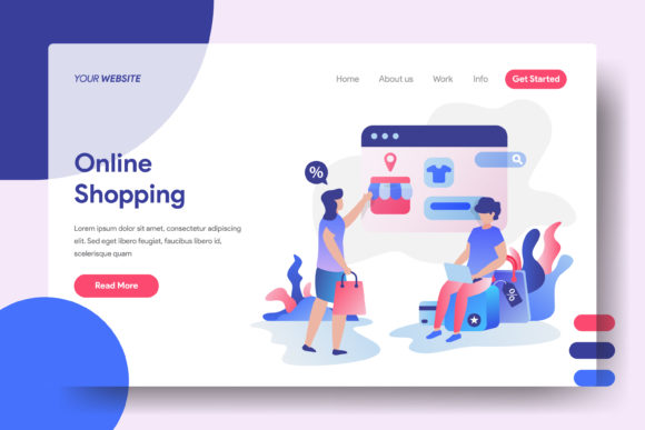 Landing Page Online Shopping Graphic Landing Page Templates By Twiri