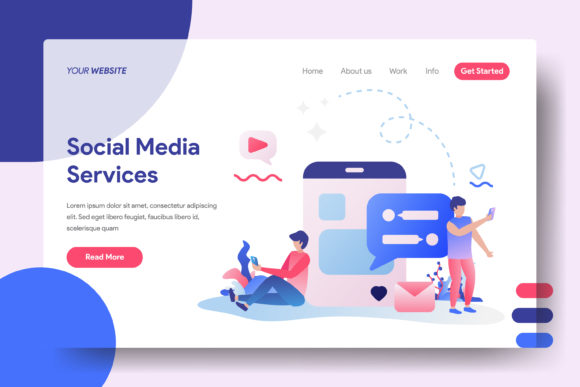 Landing Page Social Media Services Graphic Landing Page Templates By Twiri