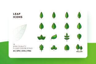 Leaf Filled Color Icon Pack Graphic By Goodware.Std
