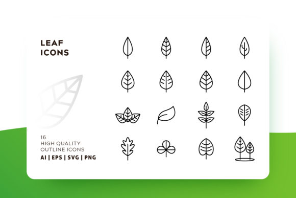 Leaf Outline Icon Pack Graphic Icons By Goodware.Std