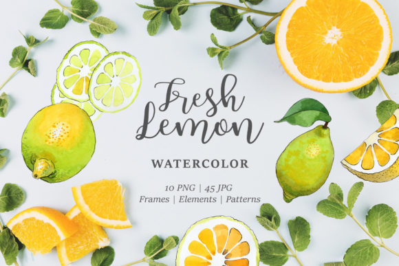 Print on Demand: Lemon Watercolor Png Graphic Illustrations By MyStocks