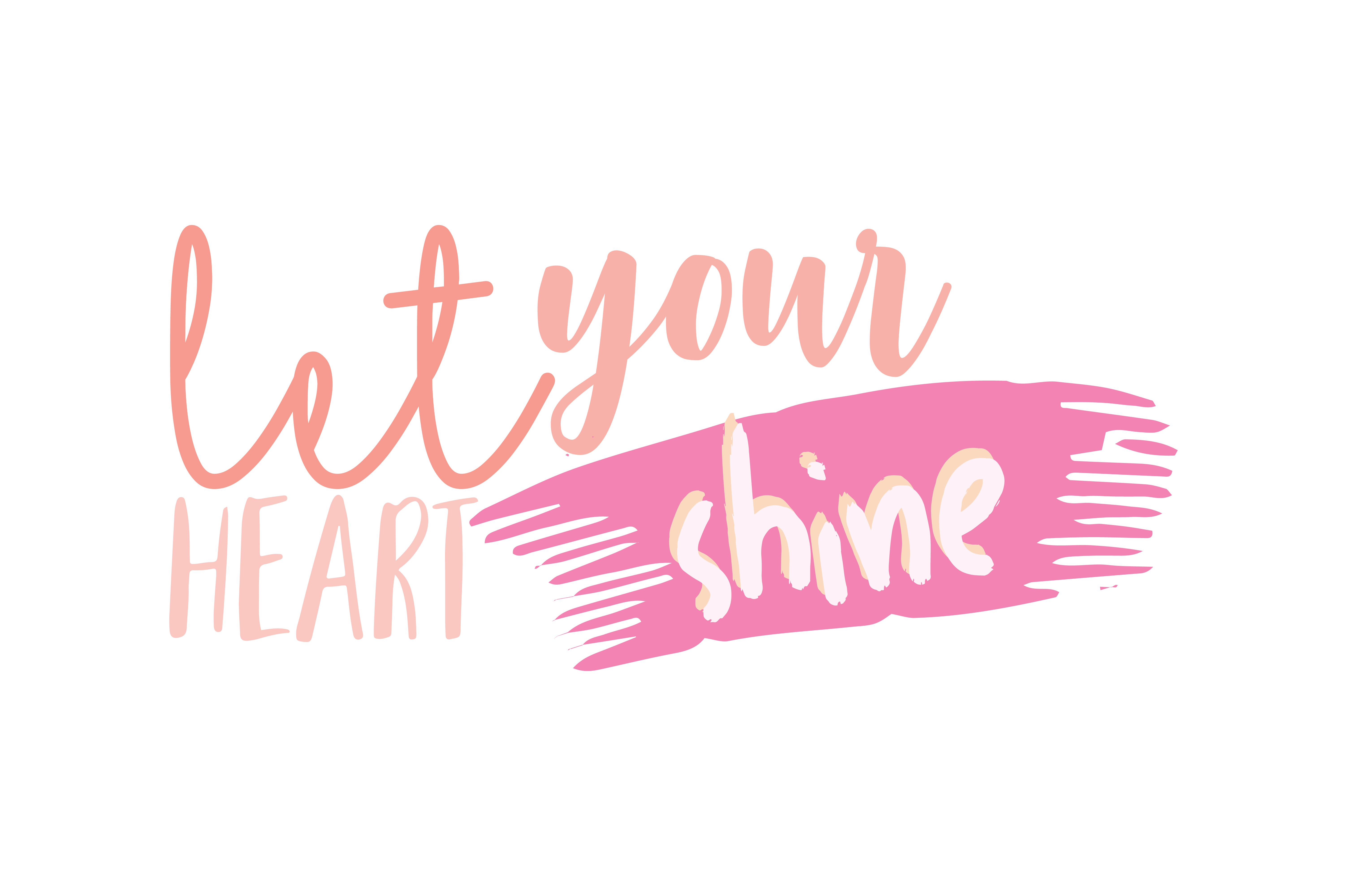Download Free Let Your Heart Shine Quote Svg Cut Graphic By Thelucky Creative Fabrica SVG Cut Files