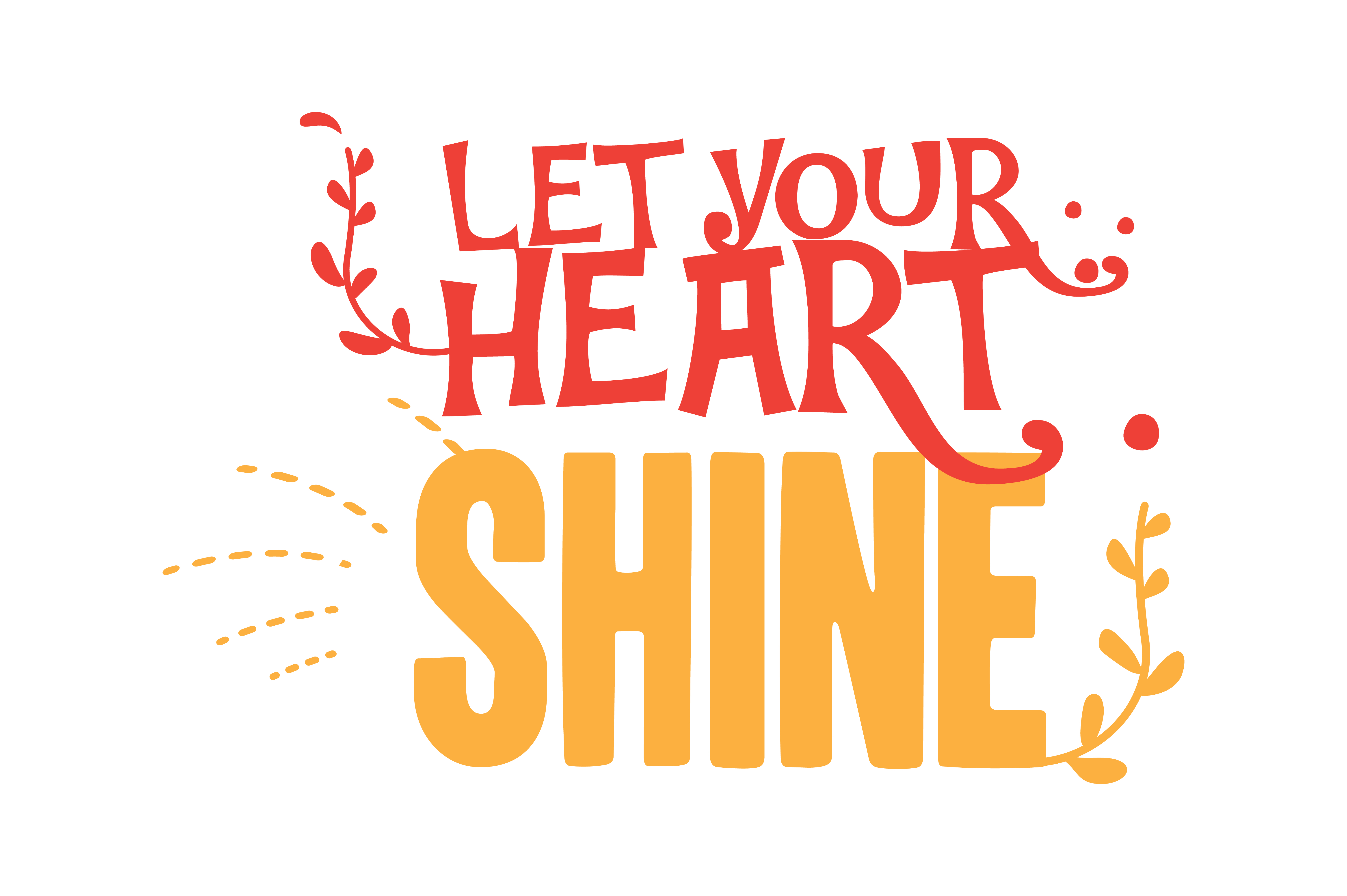 Download Free Let Your Heart Shine Quote Svg Cut Graphic By Thelucky for Cricut Explore, Silhouette and other cutting machines.