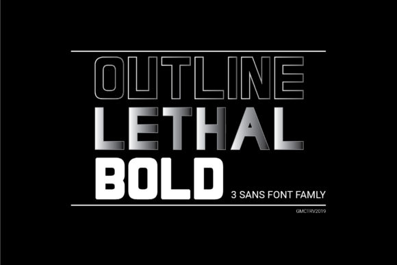 Print on Demand: Lethal Family Sans Serif Font By gumacreative