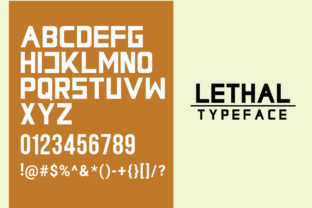 Print on Demand: Lethal Markwell Duo Sans Serif Font By Gumacreative 4