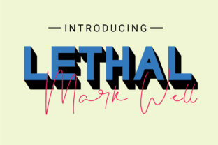 Lethal Markwell Duo Font By gumacreative