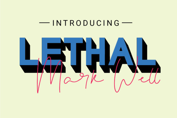 Print on Demand: Lethal Markwell Duo Sans Serif Font By gumacreative