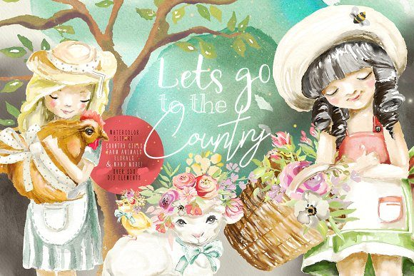 Let's Go to the Country Graphic By Anna Babich Image 1