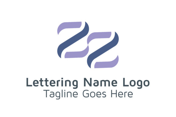 Lettering ZZ Logo Graphic By Acongraphic