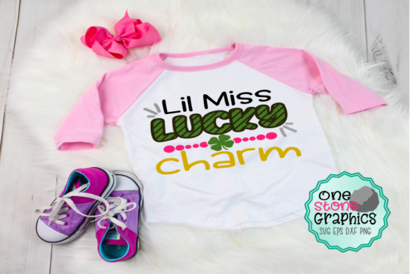 Lil Miss Lucky Charm Svg Graphic Crafts By OneStoneGraphics
