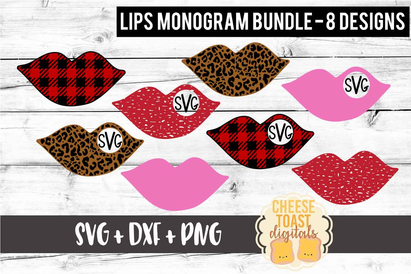 Download Free Lips Monogram Bundle Graphic By Cheesetoastdigitals Creative for Cricut Explore, Silhouette and other cutting machines.