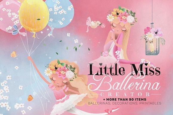 Little Miss Balerina Graphic By Anna Babich