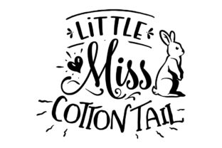 Little Miss Cottontail Craft Design By Creative Fabrica Crafts