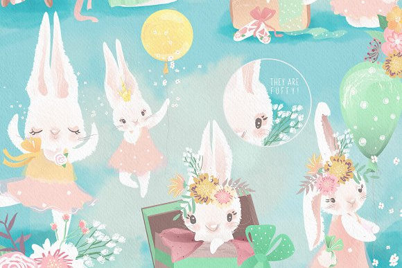 Download Free Little Pinky Bunny Graphic By Anna Babich Creative Fabrica for Cricut Explore, Silhouette and other cutting machines.