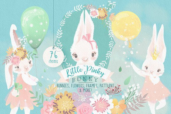 Print on Demand: Little Pinky Bunny Graphic Illustrations By Anna Babich