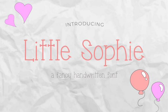 Little Sophie Script & Handwritten Font By The Branding Place