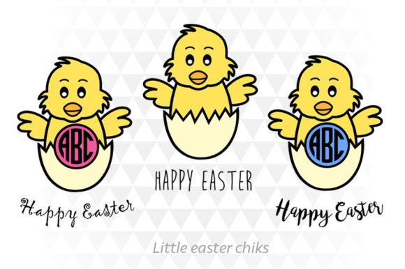 Little Easter Chicks Graphic Illustrations By ApexDesign
