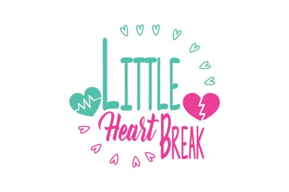 Download Free Little Heart Break Quote Svg Cut Graphic By Thelucky Creative for Cricut Explore, Silhouette and other cutting machines.
